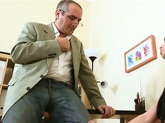 blowjob for a excited teacher