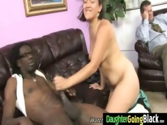 watchung my daughter getting fucked by black jock