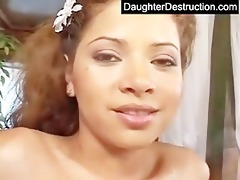 daughter mouth and wet crack screwed hard