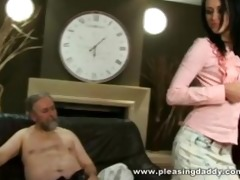 young trophy wife fucks old spouse