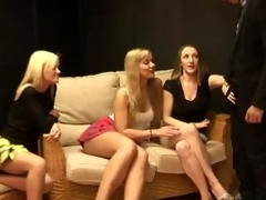 nasty cfnm babes undress younger chap