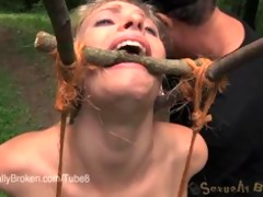 allie james suffers in outdoor thraldom