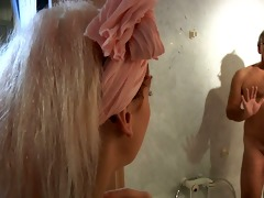 youthful slutty maid copulates an old hotel