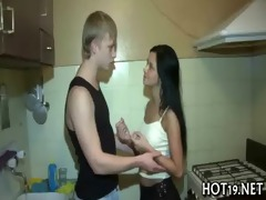sexy chick is team-fucked hard