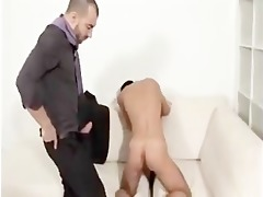 dads curly older dress tie engulf rim fuck