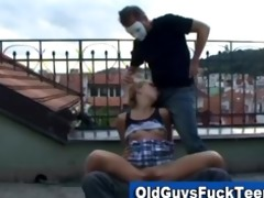 old guys oral-service by sexy younger babe