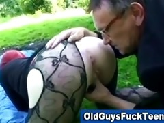 old chap blowjob by hot younger hottie