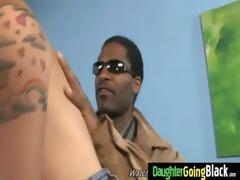 constricted juvenile teen takes big black ramrod