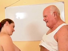 grandpa mireck and preggy wench