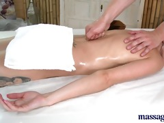 massage rooms young teen receives drilled hard by