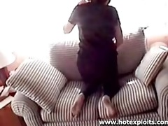daughter caught on webcam