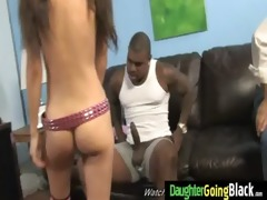 youthful daughter receives pounded by large black