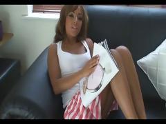 sister wank reading a magazine - joi