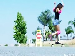 legal age teenager skater slut fucks her mature