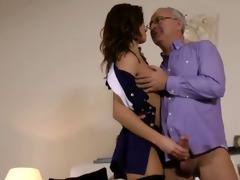 spruce brittish babe rides old man