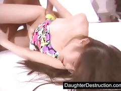 cute japanese daughter destruction