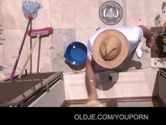 tina blade tricks old dude to fuck