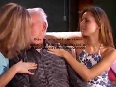 old man nailing 2 girls