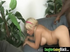 constricted youthful teen takes big black shlong