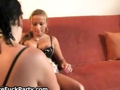 four lewd cougars getting to fuck part4