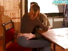 brother seduced sister and drilled her on table