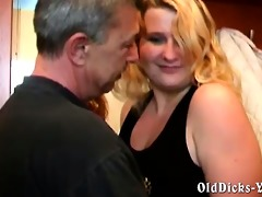 non-professional grandpa with sexy blond bbw