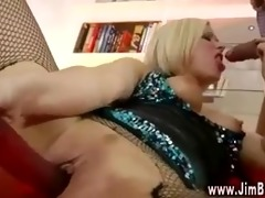 lascivious blonde in boots gets drilled