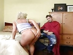 hot blond cougar bangs younger after haircut