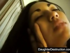 asian teen daughter screwed hard