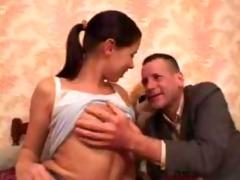 old man copulates juvenile teen angel in her ass