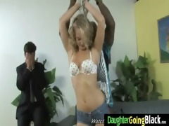 constricted young teen takes big black ramrod 15