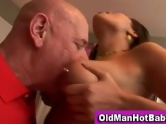 old lad blowjob by hot younger sweetheart