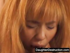 cute asian daughter fucked hard