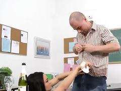 tutor drills his student