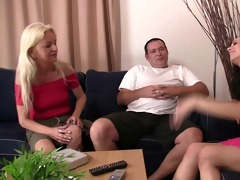 she meets with his slutty parents