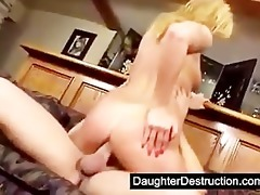 cute daughter fucked right into an asshole hard