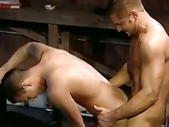 daddy gives son a nice drilling