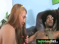 watching my daughter getting fucked by black 4