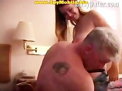 amateur daughter seduced and fucked by old father