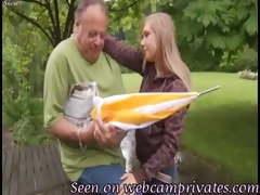 grandad love juvenile golden-haired teen -