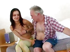 old man seducing youthful girl