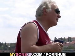 horny father copulates his sons girlfriend