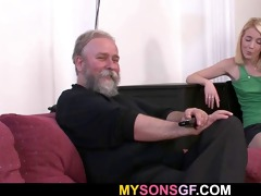 daddy punishes his gf and gets caught